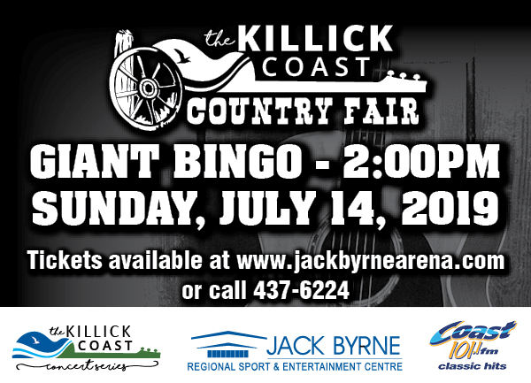 Killick Coast Country Fair GIANT BINGO @ Jack Byrne Regional Sport & Entertainment Centre